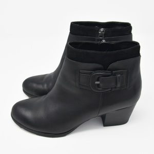 Franco Sarto Sz 7M Black Leather Ankle High Boots